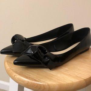 Zara pointed toe patent flats